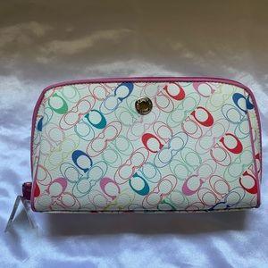 Coach | Pastel Multi-Colored Medium Cosmetic Bag